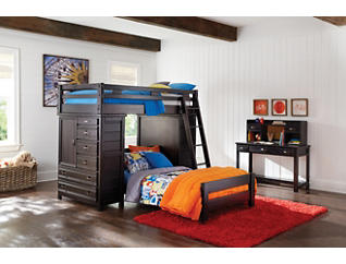 Creekside Charcoal Bunk Bed ladder, Black, large