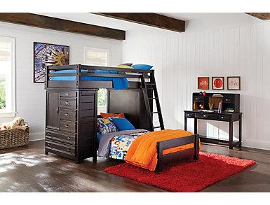 Creekside Charcoal Bunk Bed ladder, Black, large