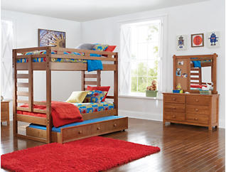 Creekside Taffy Twin Bunk Bed, Brown, large