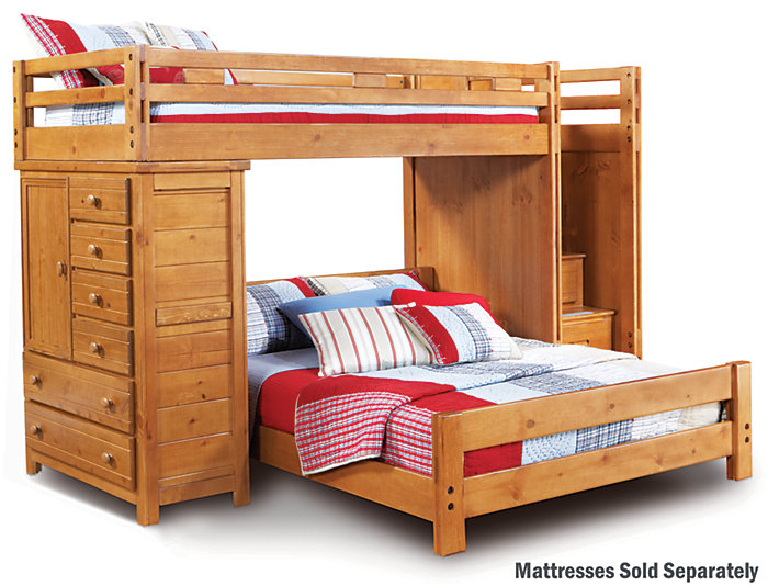 Twin-Full Step Loft With Chest, , large