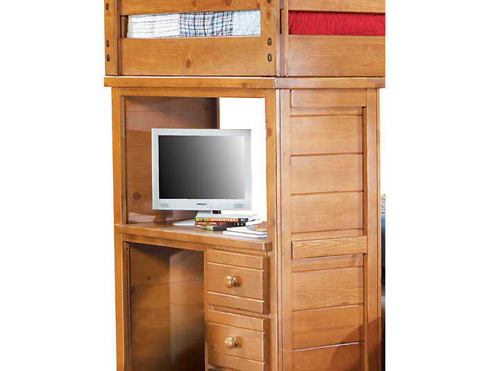 Twin / Full Loft with Desk, , large