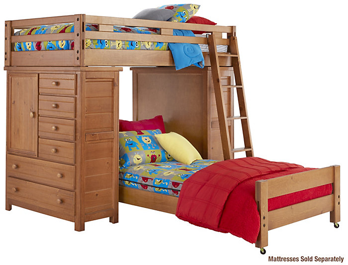 Twin Loft with 2 Chests, , large