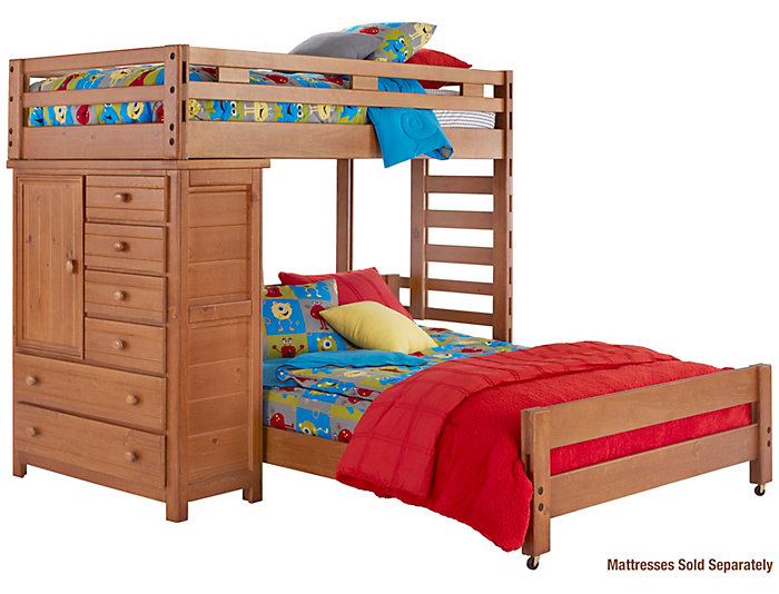 Twin Loft Bed with Chest, , large