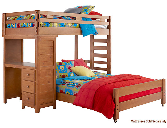 Twin Loft Bed with Desk, , large