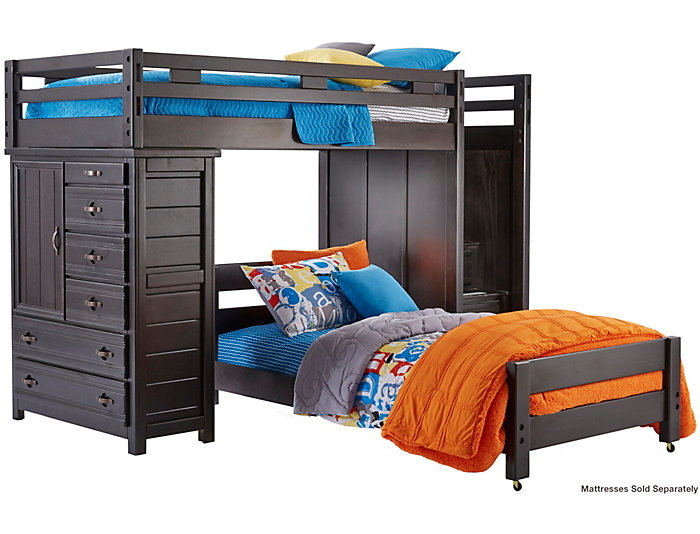 Twin Step Loft With Chest, , large