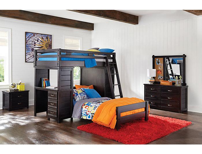 Twin Loft W/ Desk & Chest, , large