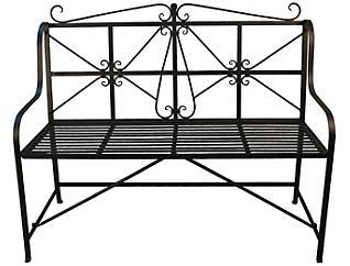 Davidson Metal Patio Bench, Black, , large