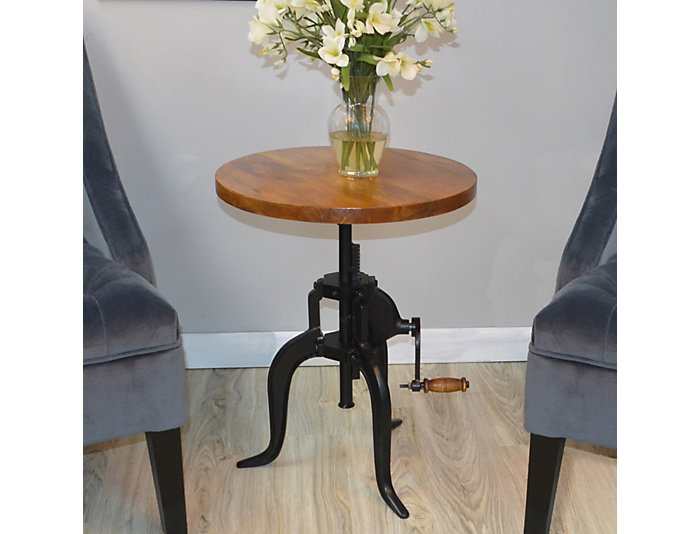Rustic Adjustable Accent Table, , large