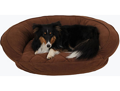 Gus Small Pet Bed, Chocolate, large