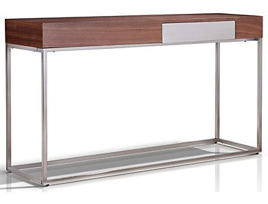 Beckham Walnut Console Table, , large