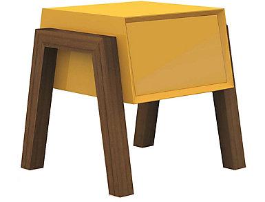 Milton End Table, Yellow, large