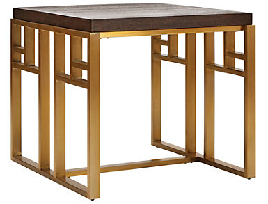 NB2 Square End Table, Gold, , large