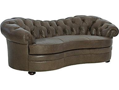 Leather Tufted Sofa, , large