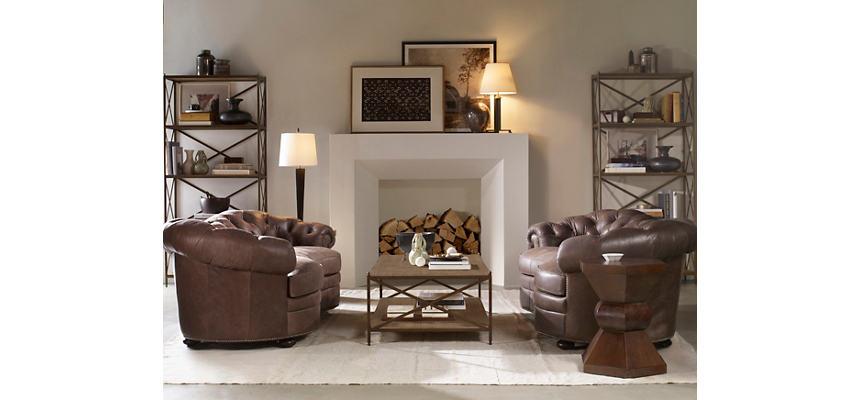 Leather Tufted Sofa