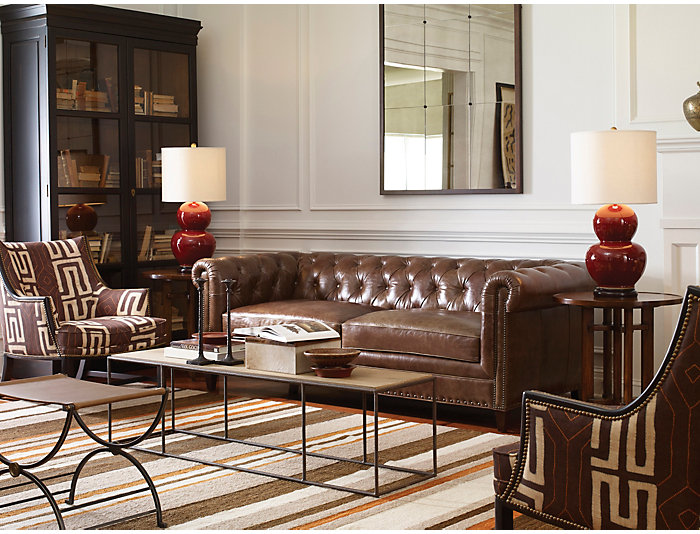 Beaumont Leather Chesterfield Sofa | Art Van Home