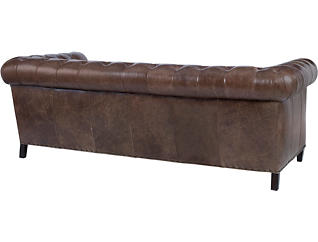 Beaumont Leather Chesterfield Sofa, , large