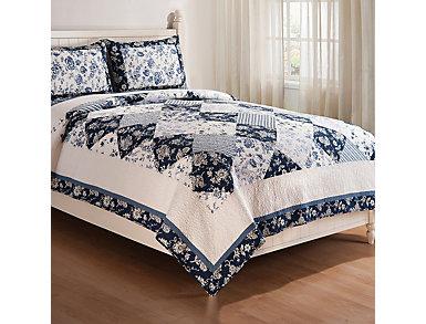 Blue Canton Queen Quilt Set, , large