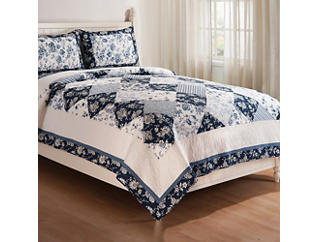 Blue Canton King Quilt Set, , large