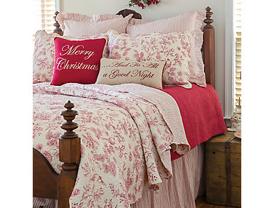 Evergreen Toile Full/Queen 3 Pc Quilt Set, , large