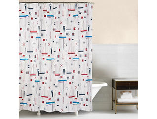 Windward Port Shower Curtain, , large