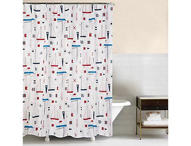 Windward Port Shower Curtain, , large