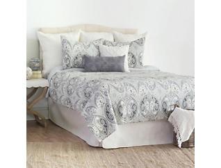 Nazima Gray King Quilt Set, , large