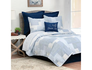 Asher Stripe Twin Quilt Set, , large