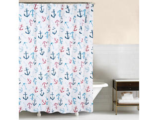Anchors Away Shower Curtain, , large