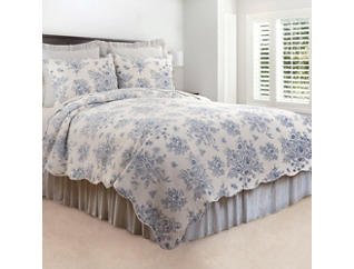 Nelly Blue Queen Quilt Set, , large