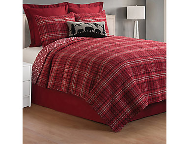 Andrew Red Full/Queen 3 Pc Quilt Set, , large