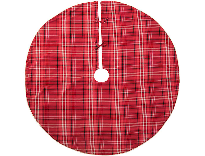 plaid christmas tree skirt large