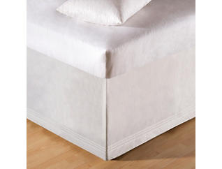 White Tailored Twin Bed Skirt, , large
