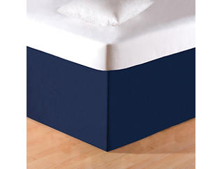 Solid Blue Twin Bed Skirt, , large