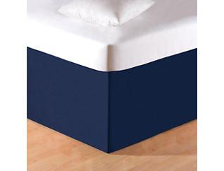 Solid Blue King Bed Skirt, , large