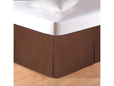 Brown Twin Bed Skirt, , large