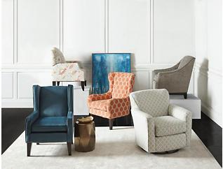 Ashlar Flower Print Chair, , large