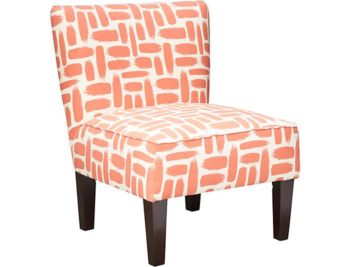 Ali Orange Armless Chair, , large