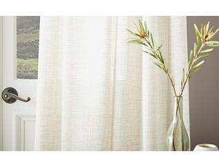 """Melabar Linen 95"""" Window Panel, Linen, large"""