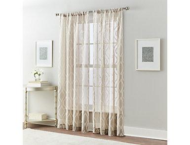 """Ogee Hourglass Linen 84"""" Window Panel, , large"""