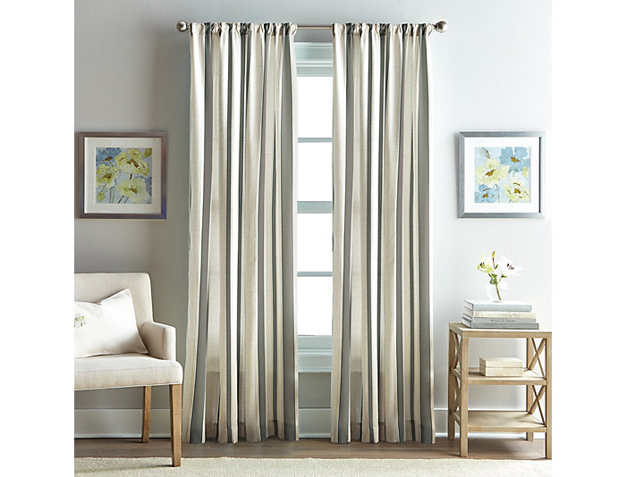 """Fairview Stripe Charcoal 84"""" Window Panel, , large"""