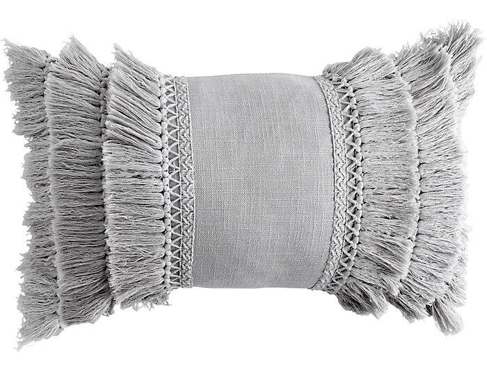 Fringe Grey 12x18 Pillow, , large