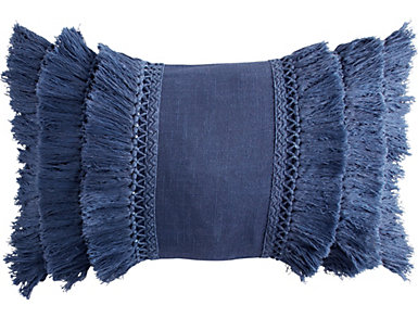 Fringe Navy 12x18 Pillow, , large