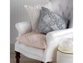 Metallic Chenille Blush Pillow, , large