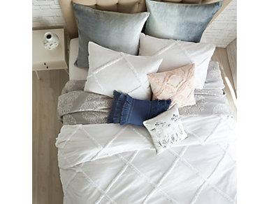 Chenille Lattice 3 Piece King Comforter Set, , large