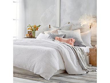 Dot Fringe 3pc Full/Queen Comforter Set, , large