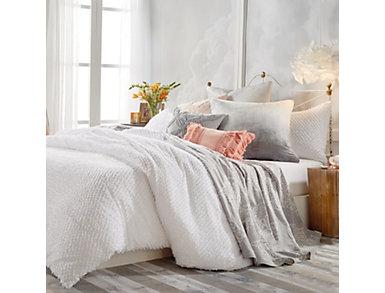Dot Fringe 3 Piece King Comforter Set, , large