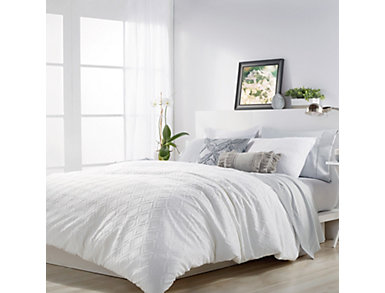 Solid Ogee 3 Piece Full/Queen Comforter Set, , large