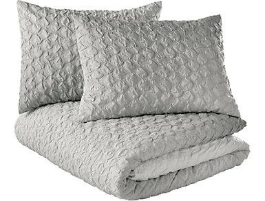 Ombre Honeycomb 3pc Full/Queen Comforter Set, , large