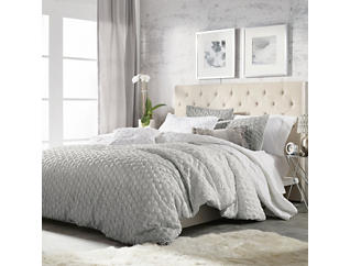 Ombre Honeycomb 3 Piece Full/Queen Comforter Set, , large