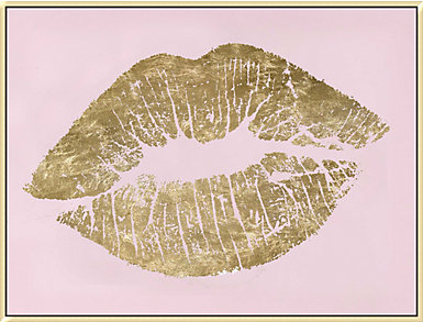Gold Lips Oilpainting, , large